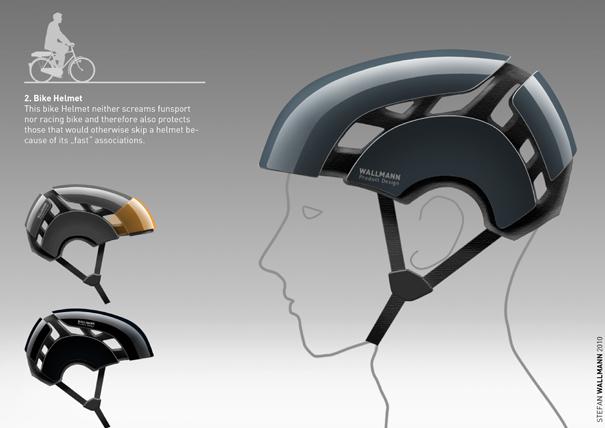 Several Sports Helmets by Stefan Wallmann