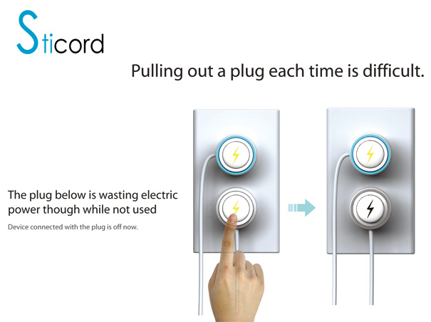 Sticord Power Saving Plug Design by Dongyeon Kim