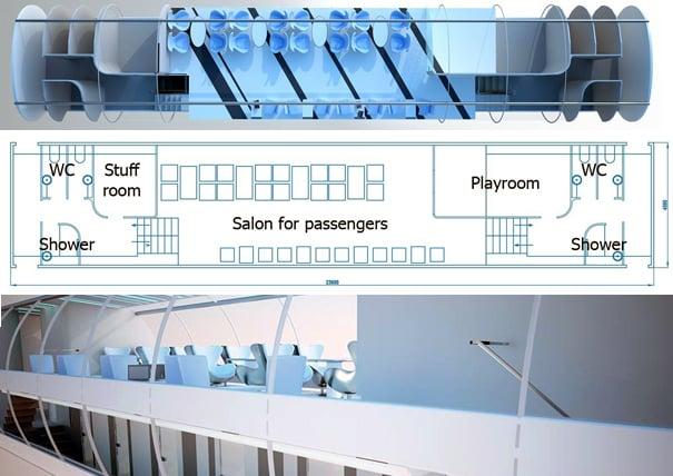 Bombardier Adventure passenger train car by 2-B-2 Architecture