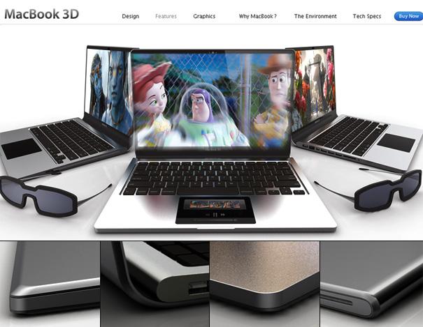MacBook 3D Laptop Concept by Tai Chiem
