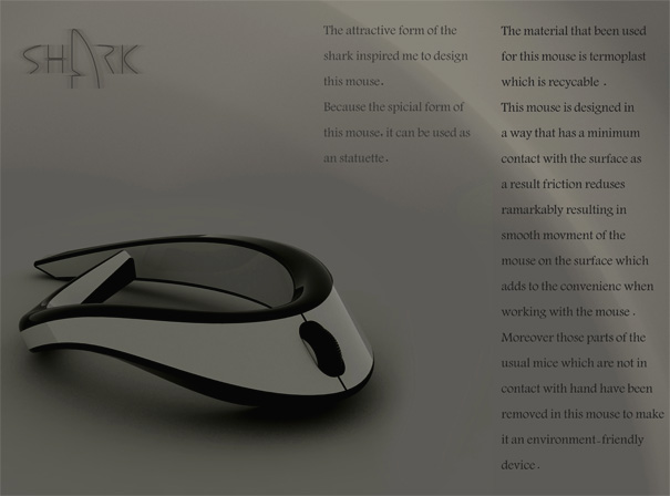 Shark Mouse Concept by Alireza Haji & Mahbod Ashraf
