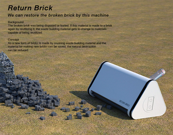 Return Brick – Broken Bricks Recycle Machine by Youngwoo Park, Hoyoung Lee & Miyeon Kim