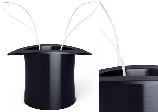 Cylindrus USB hub magic hat by Art Lebedev Studio