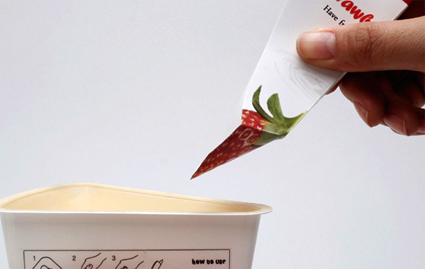 Yogurt Spoon Package Design by Cho Hye-seung