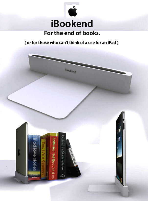 iBookend - iPad Bookends by Dominic Wilcox