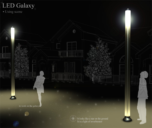 LED Galaxy Street Light by Sungkuk Park