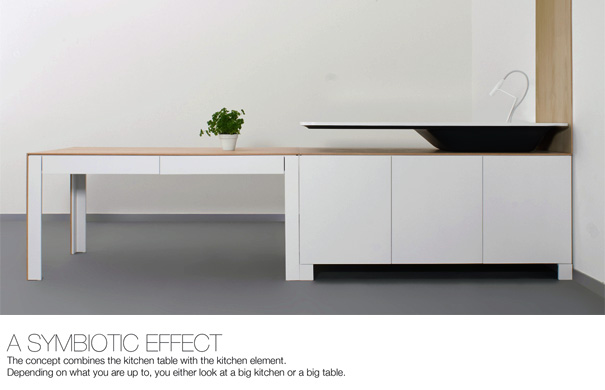 Make cooking a dining experience yanko design for Modular dining table