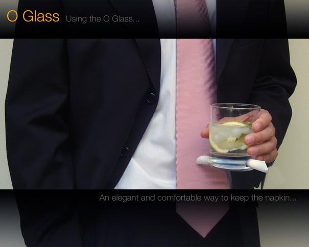 O-Glass - Cocktail Glass That Holds A Napkin by Alvaro Lagos Vasquez