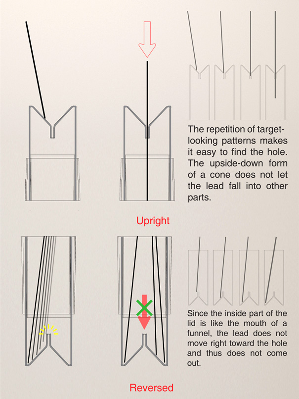Funnel Sharp Pencil by Hoyoung Lee, Youngwoo Park & Jungmin Park