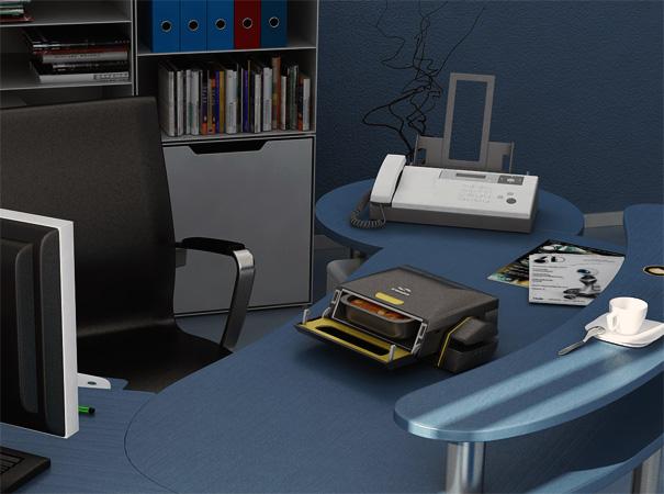 BrainWave - Desktop Microwave Oven by Stephen Richard Gates