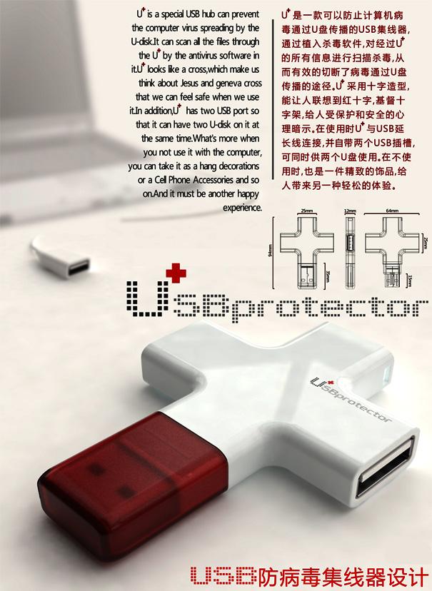 U + USB Hub And Disk Scanner For Computers by Wu Jiang