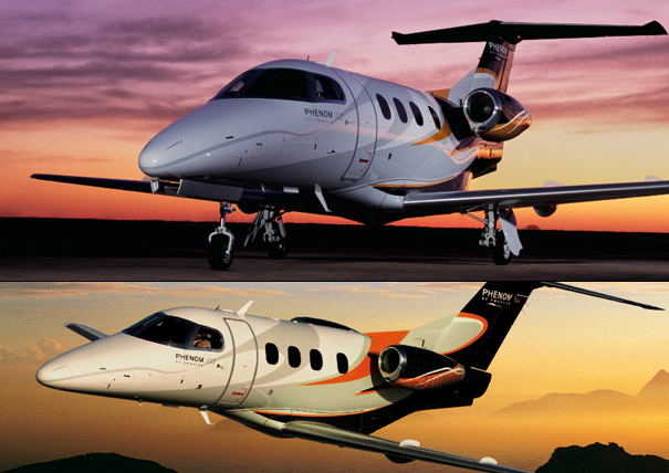 Embraer Phenom 100 and 300 by BMW Group DesignworksUSA