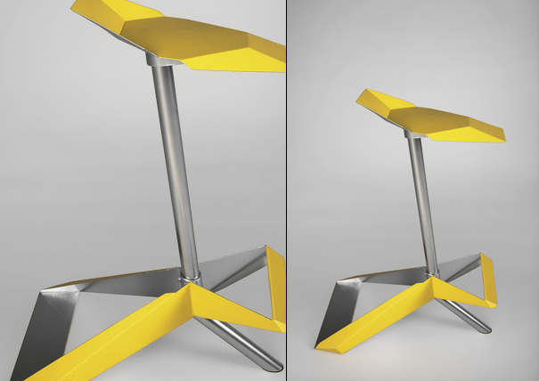 Oragami inspired chair by Daniel Levin