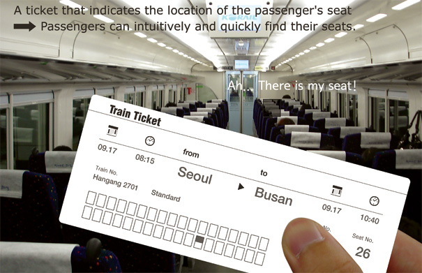 Where Is My Seat?  Tickets Redesign by Yong-jin Kim