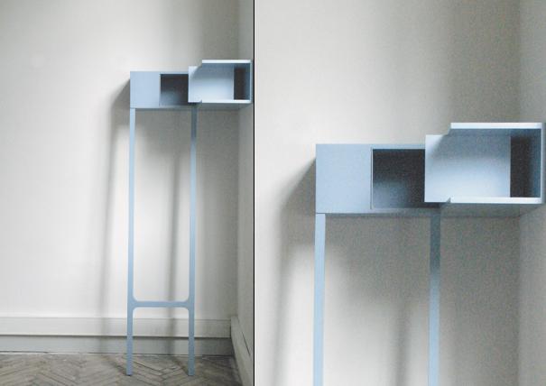 Etagère de coin aka Corner Shelf by Marie Dessuant