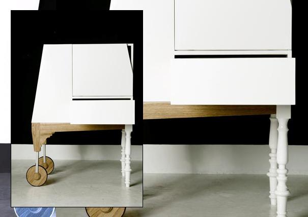 Alice in Wonderland rolling cabinet by Studio-Ziben for Art Syndicate
