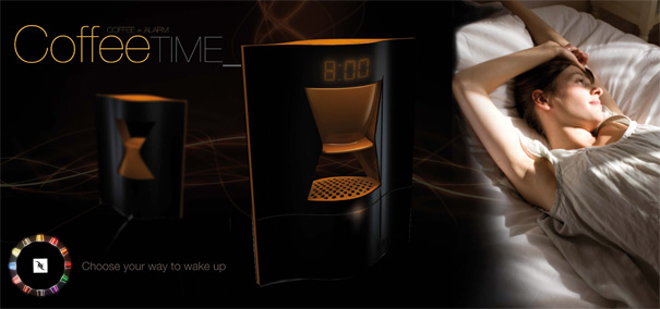 CoffeeTime – Coffee Maker Clock by Elodie Delassus