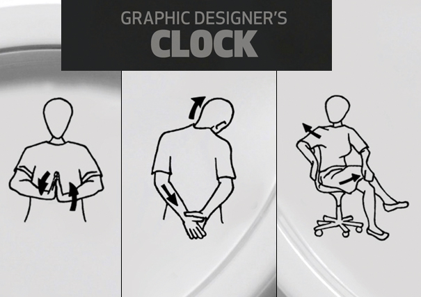 Graphic Designers Clock by Nurcan Durmaz