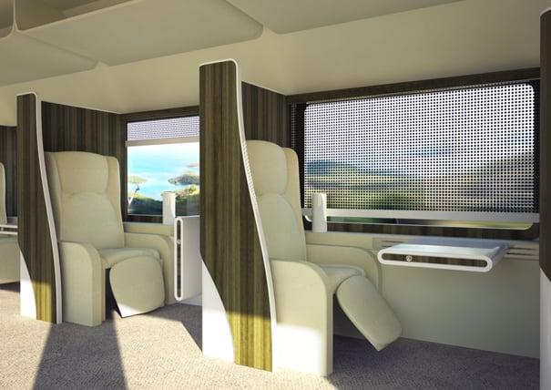 Business Travelers Train Interior by Aleksandar Dimitrov