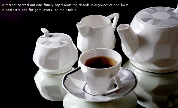 Ceramic Gems - Tea Set by Mohit Arora