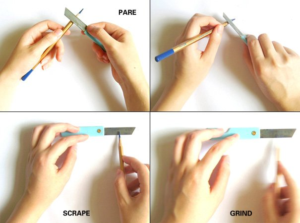 Re-Knife Pencil Knife by Yitu wang & Joy Zhang