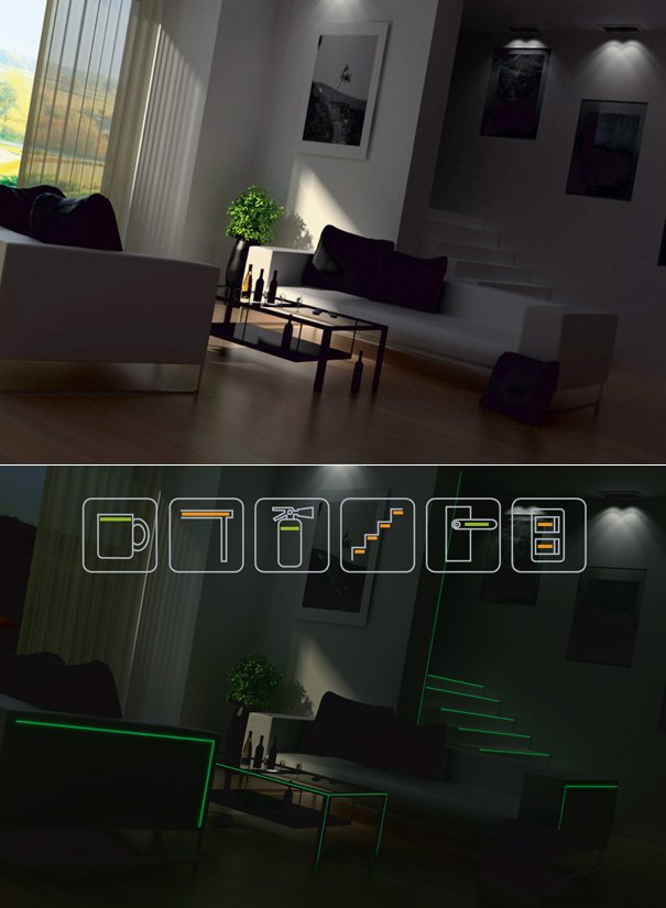 Saving Energy And Safety Line Glow Tape by Cheol Min Park