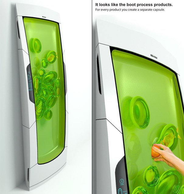 The top 25 entries of electrolux design lab 2010 yanko for Household refrigerator design