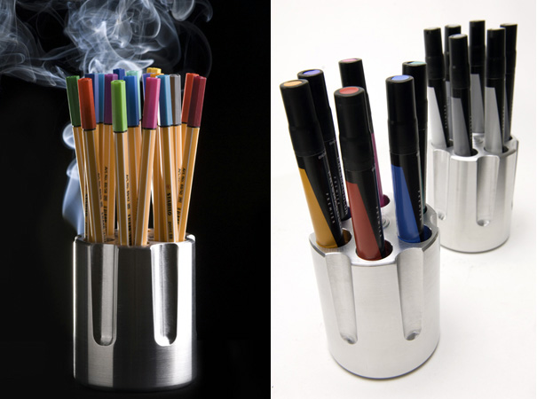 Choose Your Bullets – Pen Stand by Jorge Diego Etienne