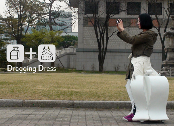 Dragging Dress -  Travel Suitcase by Miya Lee
