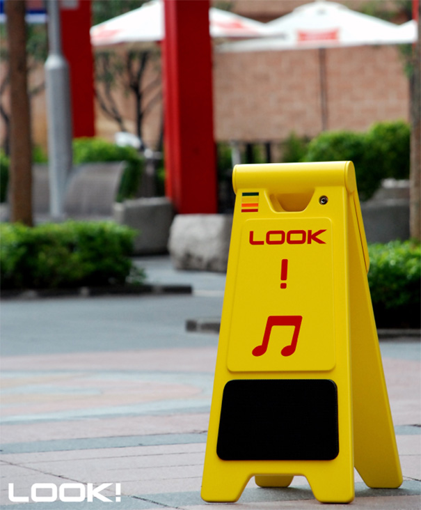 Look! Speakers For Street Performers by Lin Ding Yuan, Yeh Lan Hsing & Shao Wei Jhe