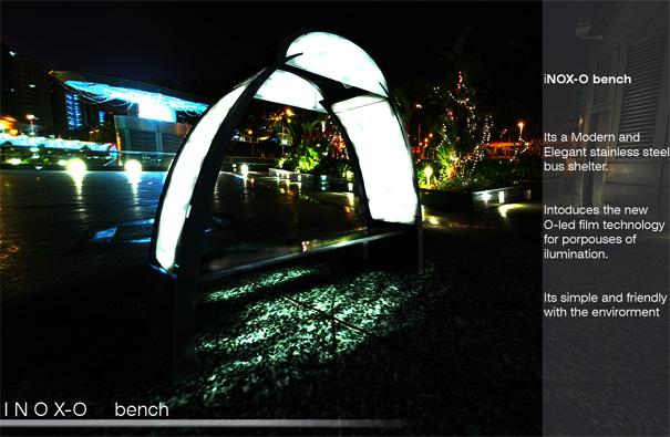 Inox-O Bench For Bus Stop by Jesus Mendoza Castillo