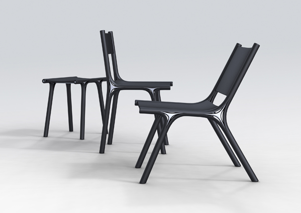 Skin-bone Chair Collection by Lin Jinhong
