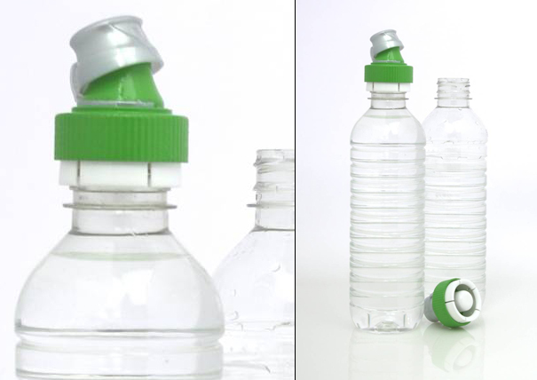 Just Add Water sustainable design bottle cap to combat plastic waste by Adam Robinson of Plus Minus Design