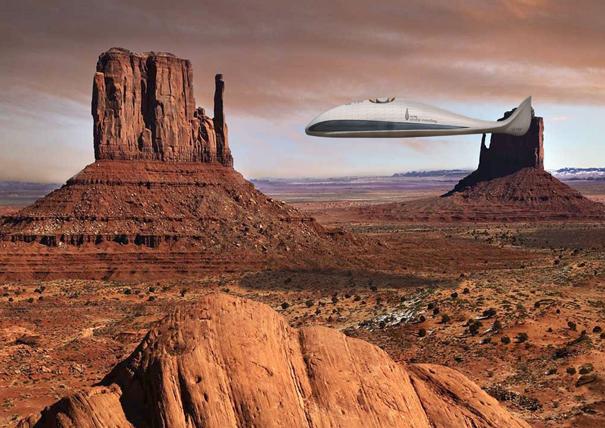 Airship traveling by Thomas Rodemeier
