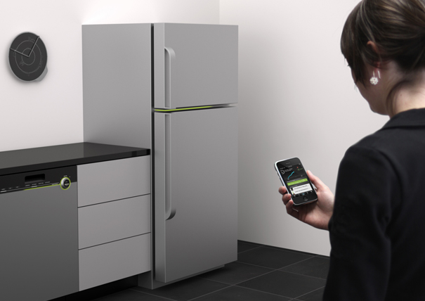 Impact Fridge, Dishwasher, Clock, and Application by Carbon Design Group and Artefact Design