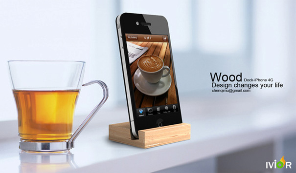 Wooden Dock for iPhone 4G by Chris Chan