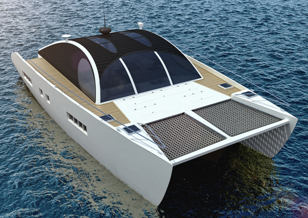 Marvin, the eco-sustainable catamaran by Maria Malindretou-Vika