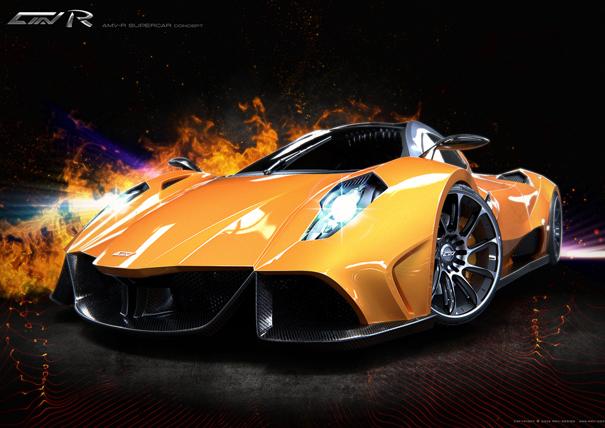 AMV-R concept supercar by Alexei Mikhailov