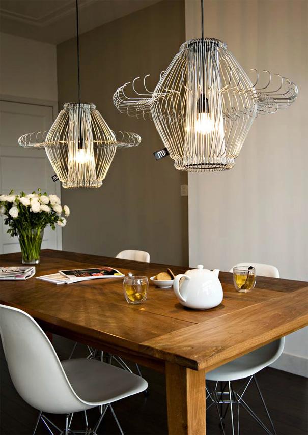 Light Mi - Chandelier Made From Hangers by Miriam Zink