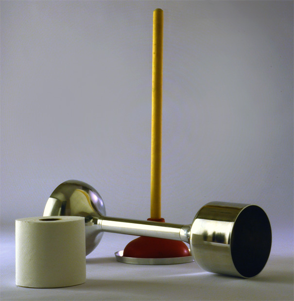 Undercover Toilet Plunger And Toilet Paper Holder by Michael Liu