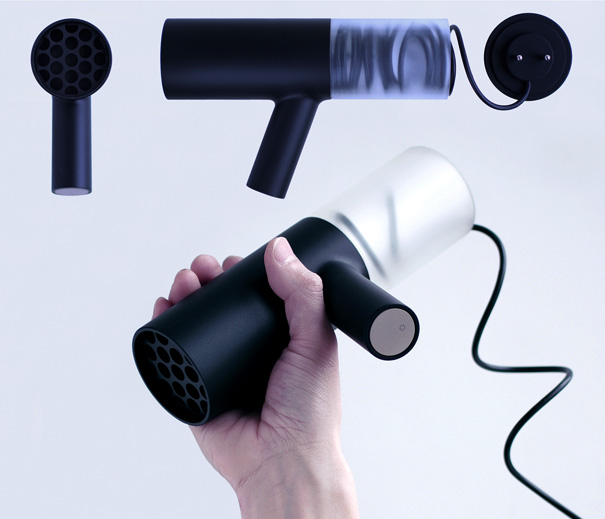 Hair Dryer Design ~ Coiled up in the dryer yanko design