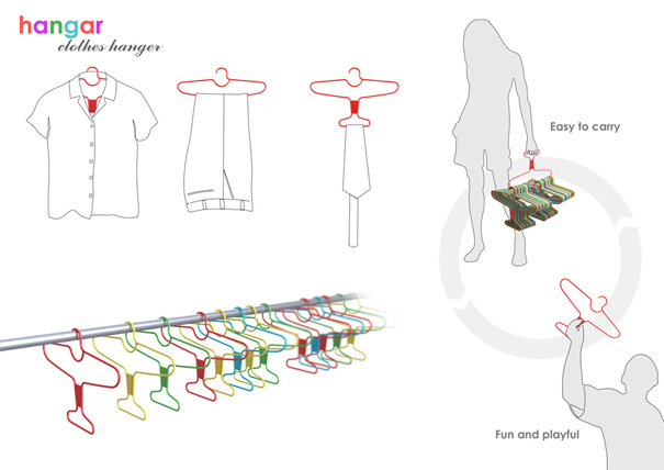 Hangar clothing hanger by Chetan Sorab of Epicenter Design