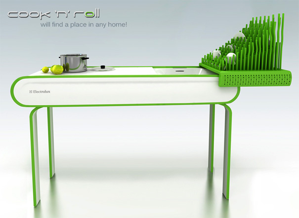 Cook 'n' Roll Concept Kitchen Table by Zivile Januskaityte