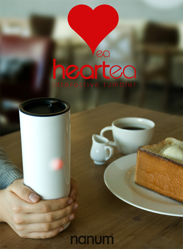 Heartea Interactive Beverage Mug by Sangmin Bae, ID+IM Design Lab. Members