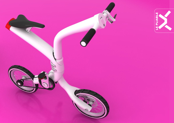 Le Pliable folding bike concept by Saul Maret