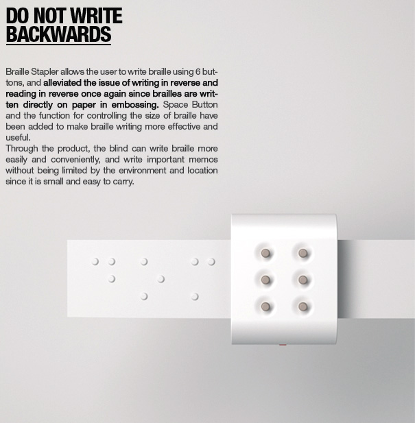 Braille Stapler by Dongwon Jang, Mihyang Park & Jungmin Bae