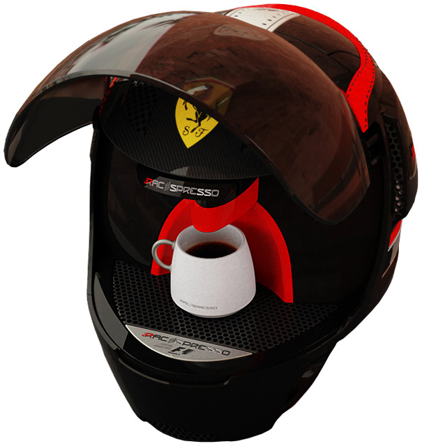 racepresso4 «Гоночный шлем» угостит кофе