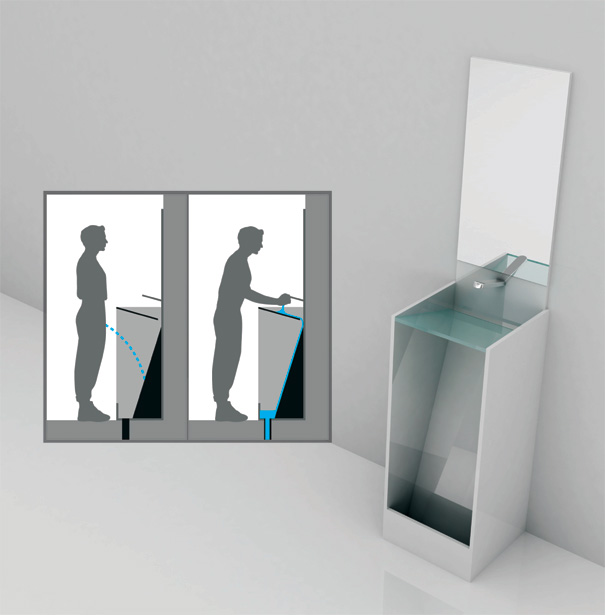Whoa men to pee and wash in the same stand yanko design - New uses for home products ...