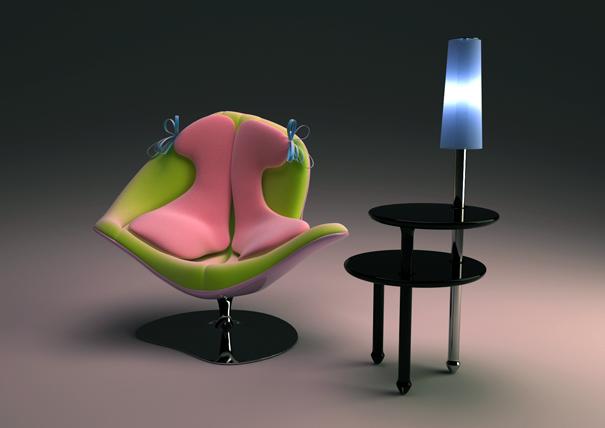 3层泡沫的时尚休闲椅