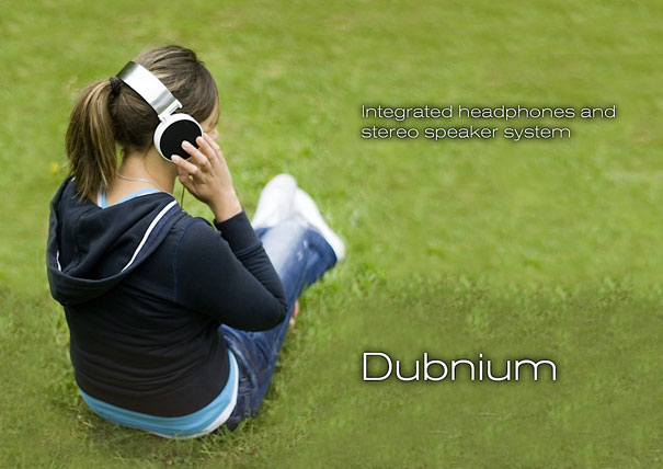 Dubnium headphone speakers by Adrian Jankowiak